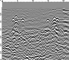 High frequency ground penetrating radar images